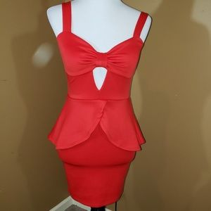 Charlotte Russe SM  sexy red dress